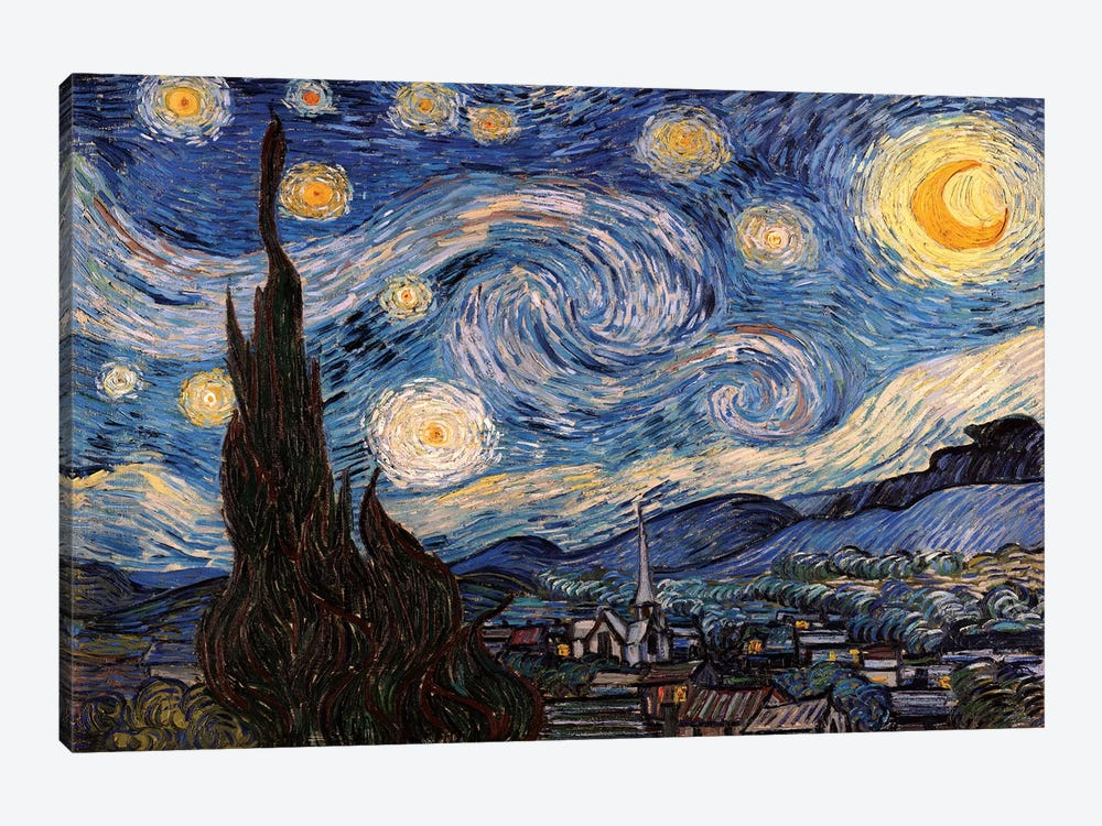 The Starry Night by Vincent van Gogh 1-piece Art Print