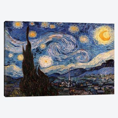 The Starry Night Canvas Print #300} by Vincent van Gogh Canvas Art Print