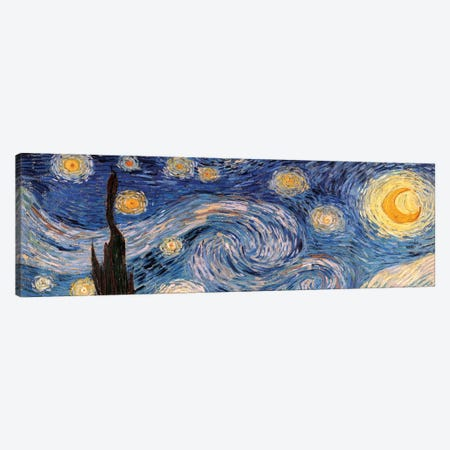 The Starry Night Canvas Print #300PAN} by Vincent van Gogh Art Print