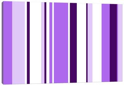 Violet Purple Irises Canvas Art Print