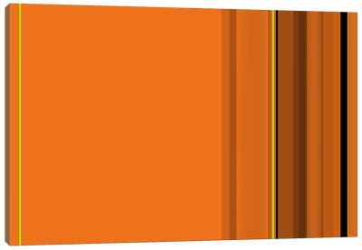 Pumpkin Orange Canvas Art Print