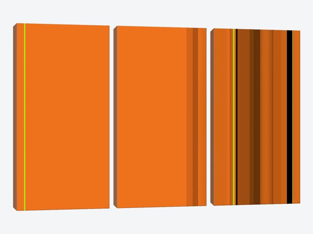 Pumpkin Orange by iCanvas 3-piece Canvas Art Print