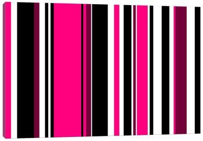 Deep Pink on Black Canvas Art Print