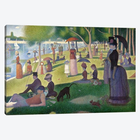 Sunday Afternoon on the Island of La Grande Jatte Canvas Print #301} by Georges Seurat Art Print
