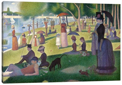 Sunday Afternoon on the Island of La Grande Jatte Canvas Art Print