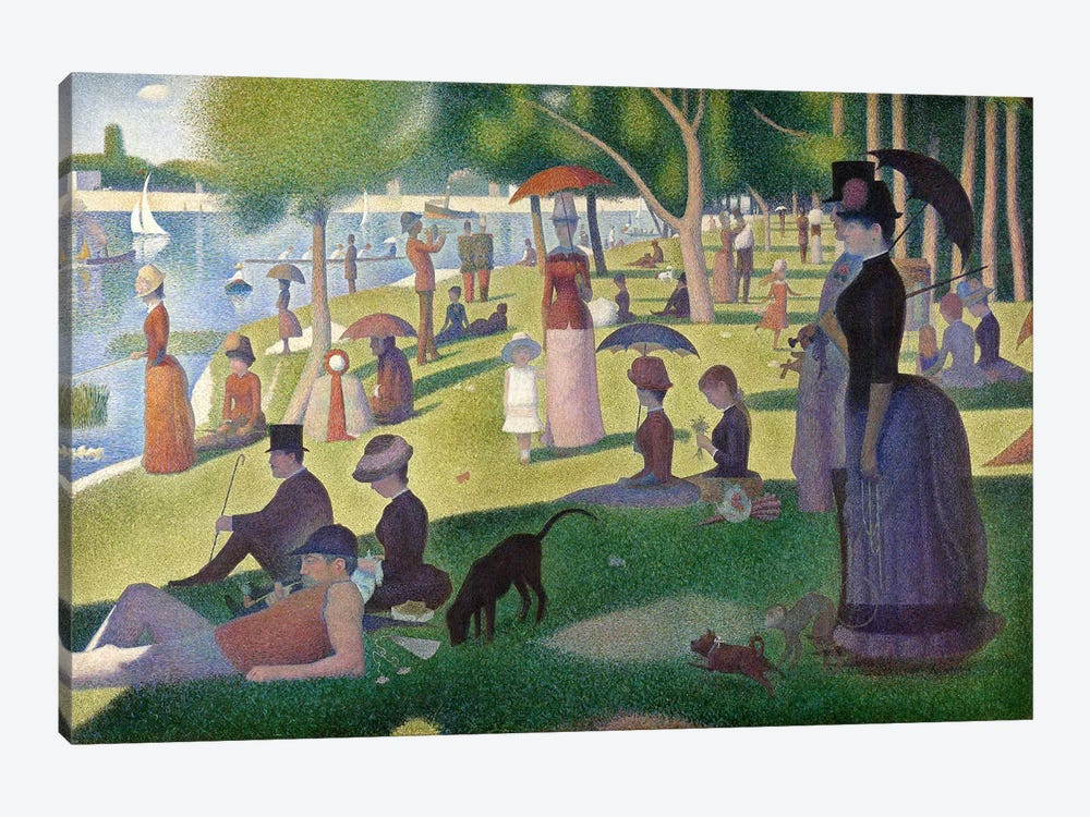 Sunday Afternoon on the Island of La Grande Jatte by Georges Seurat 1-piece Canvas Artwork