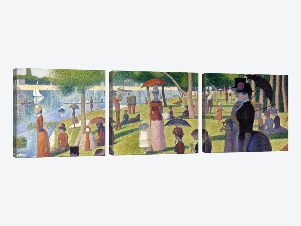 Sunday Afternoon on the Island of La Grande Jatte by Georges Seurat 3-piece Canvas Art Print