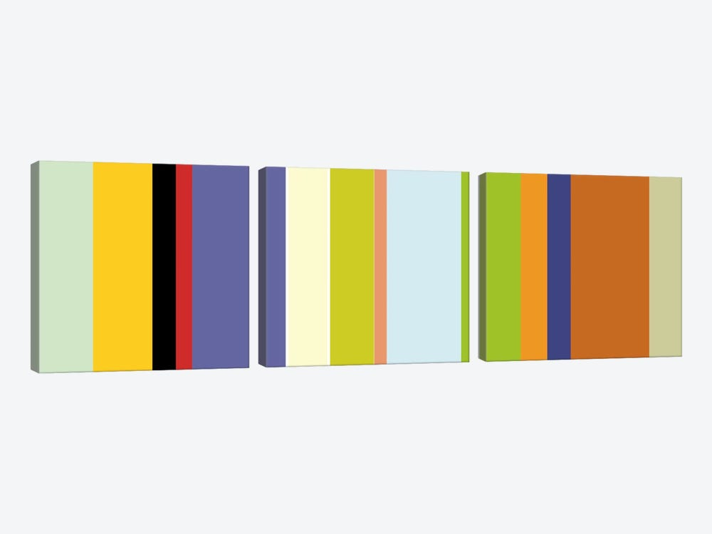 For The Love of Color by iCanvas 3-piece Canvas Art