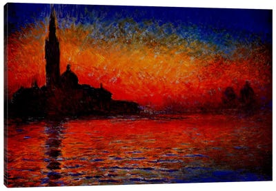Sunset in Venice by Claude Monet Art Print