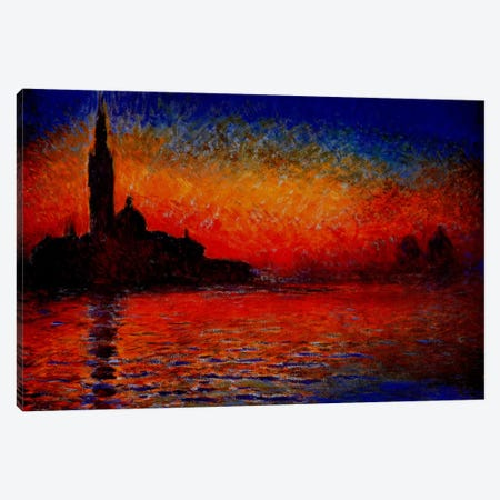 Sunset in Venice Canvas Print #302} by Claude Monet Art Print
