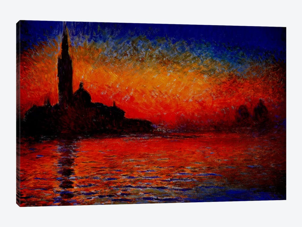 Sunset in Venice by Claude Monet 1-piece Canvas Print