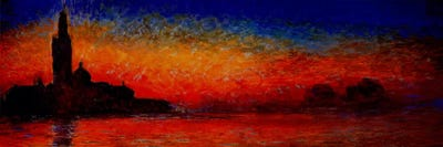 Sunset In Venice Canvas Wall Art By Claude Monet Icanvas