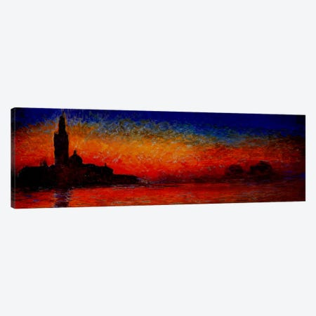 Sunset in Venice Canvas Print #302PAN} by Claude Monet Canvas Wall Art