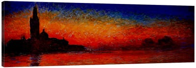 Sunset in Venice Canvas Art Print