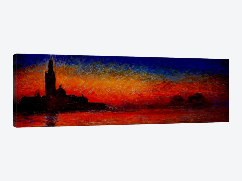 Sunset in Venice by Claude Monet 1-piece Canvas Art Print
