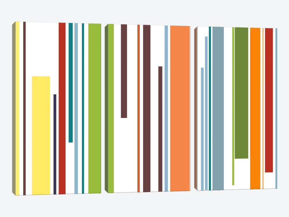 Pastel Piano Keys by iCanvas 3-piece Canvas Wall Art