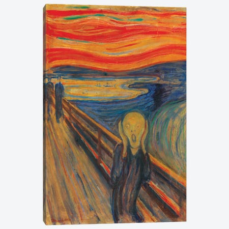 The Scream, 1893 (Oil, Tempera & Pastel On Cardboard) Canvas Print #303} by Edvard Munch Canvas Art Print