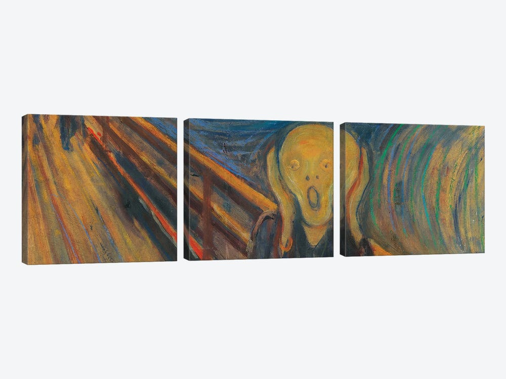 The Scream by Edvard Munch 3-piece Art Print