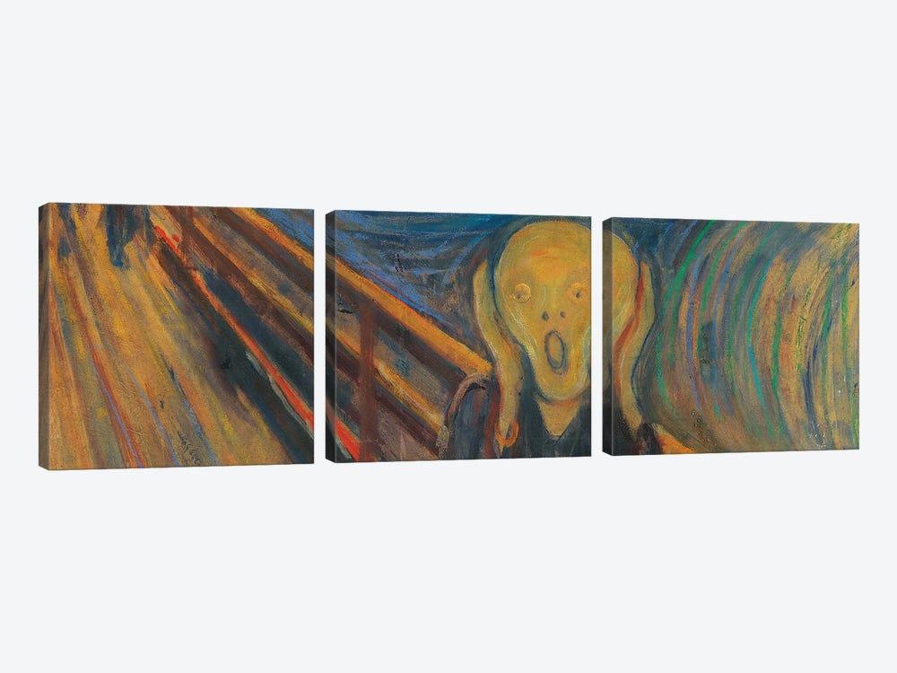 The Scream by Edvard Munch 3-piece Art Print