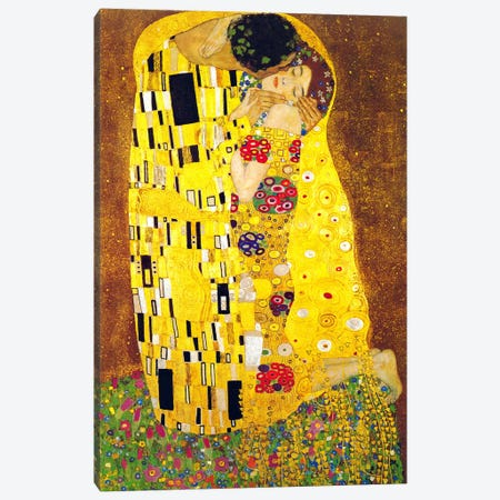 The Kiss Canvas Print #304} by Gustav Klimt Canvas Artwork