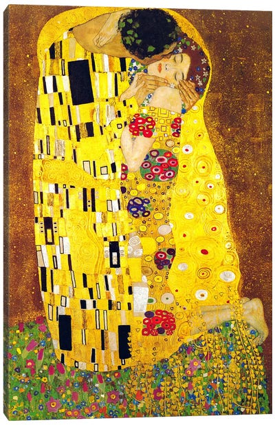 The Kiss by Gustav Klimt Canvas Art Print