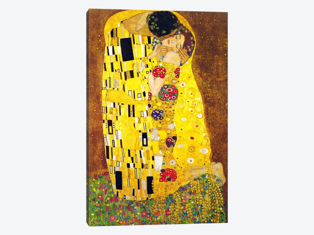 Rustic wall decor for bathroom - The Kiss Canvas Wall Art By Gustav Klimt Icanvas