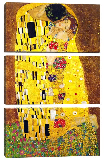 The Kiss by Gustav Klimt Canvas Artwork