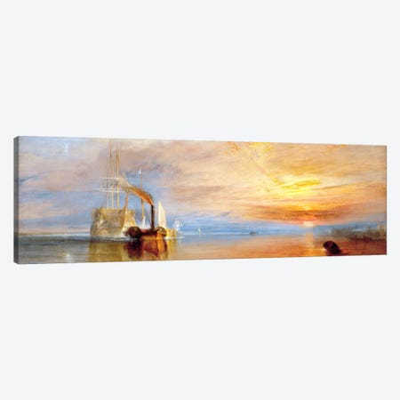 Fighting Temeraire Canvas Print #305PAN} by J.M.W Turner Art Print
