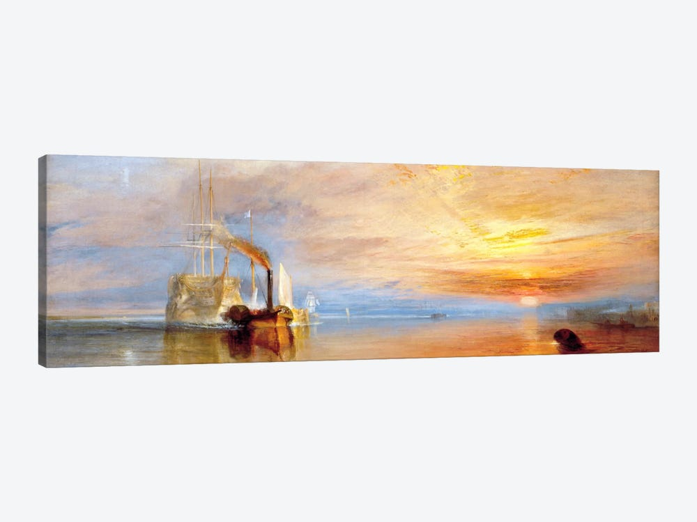 Fighting Temeraire by J.M.W Turner 1-piece Canvas Print