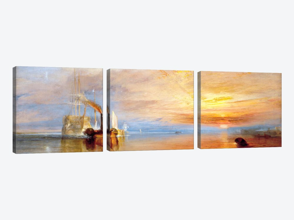 Fighting Temeraire by J.M.W Turner 3-piece Canvas Print