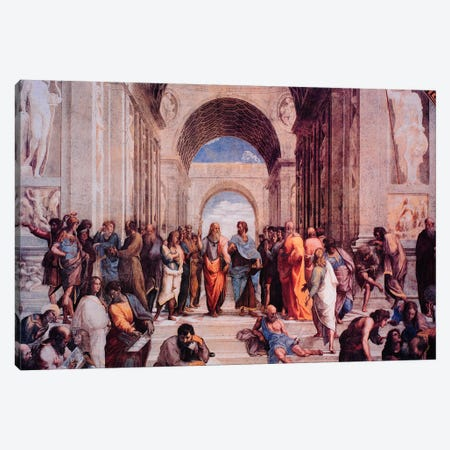 School of Athens Canvas Print #306} by Raphael Canvas Wall Art