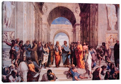 School of Athens by Raphael Canvas Wall Art