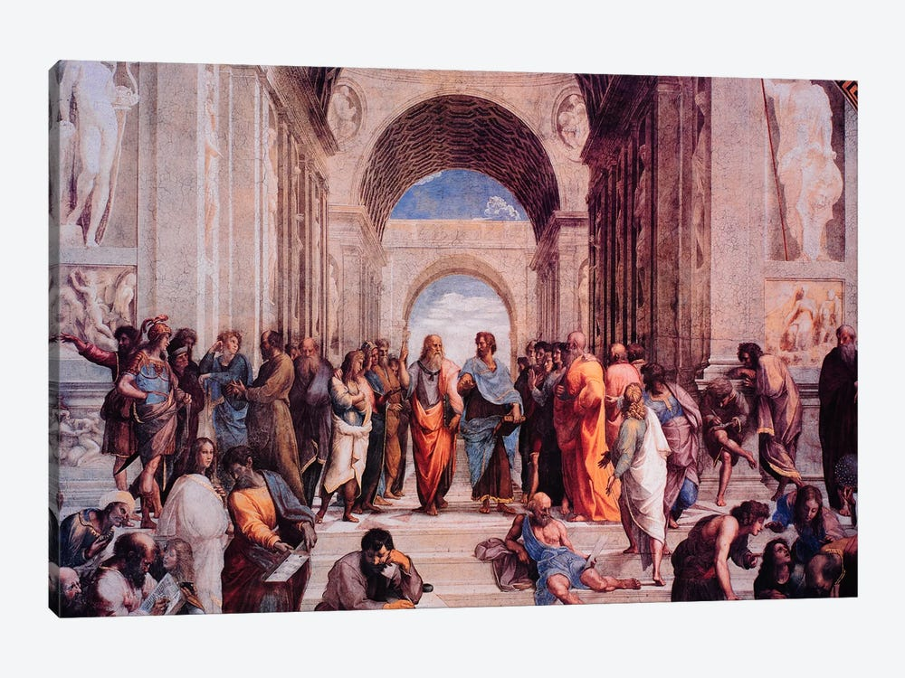 School of Athens by Raphael 8-piece Canvas Art Print