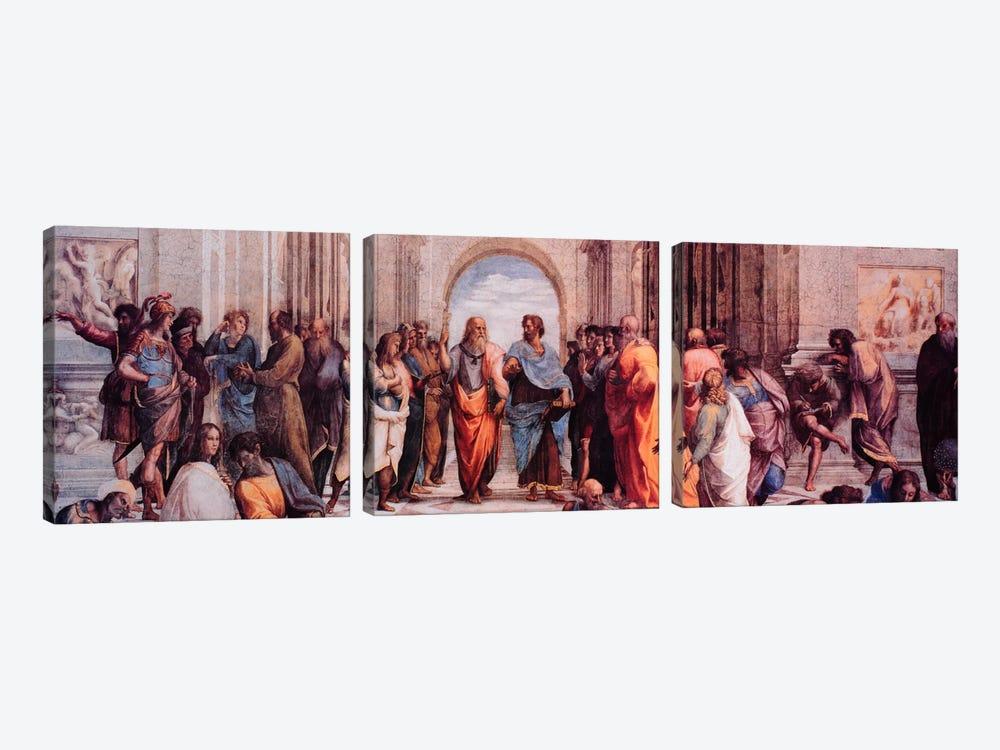 School of Athens by Raphael 3-piece Canvas Art Print