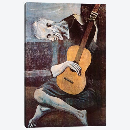 The Old Guitarist Canvas Print #308} by Pablo Picasso Art Print