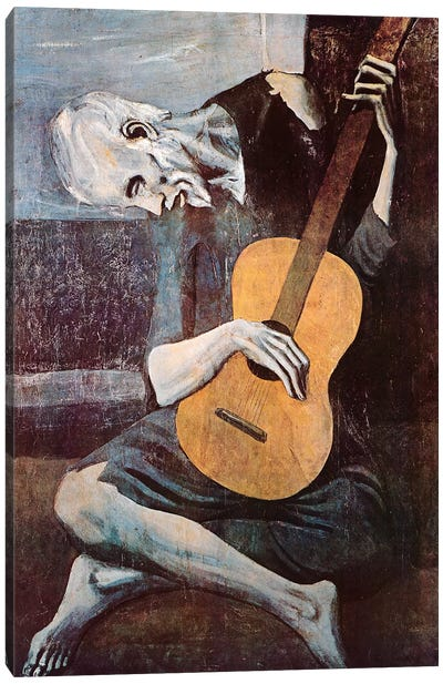 The Old Guitarist Canvas Art Print