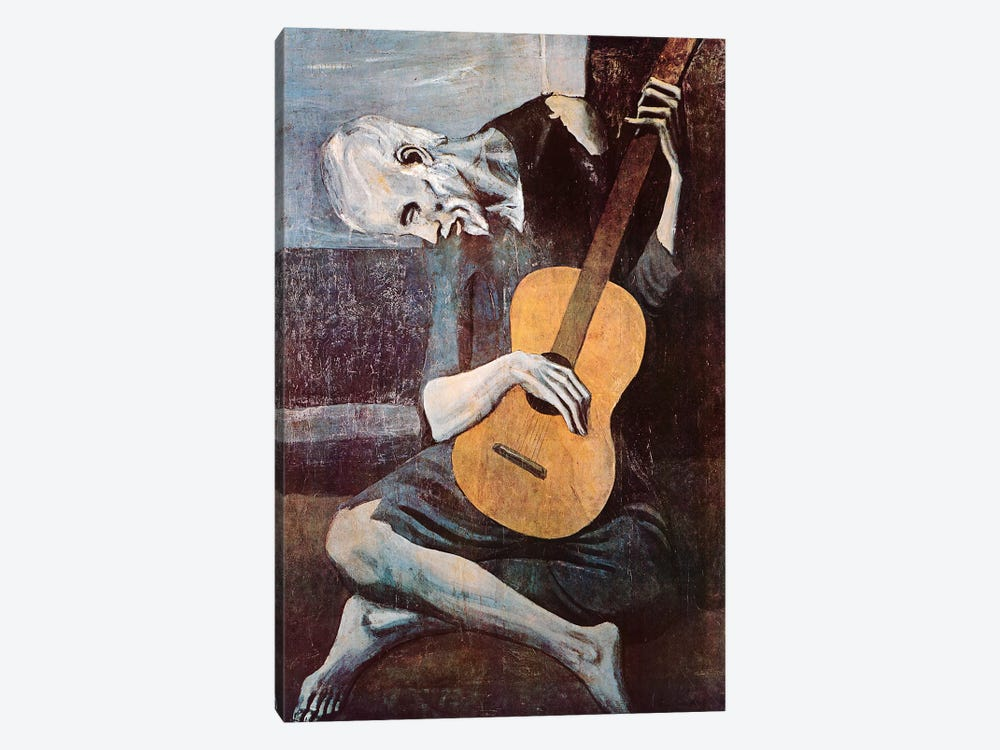 The Old Guitarist by Pablo Picasso 1-piece Canvas Print