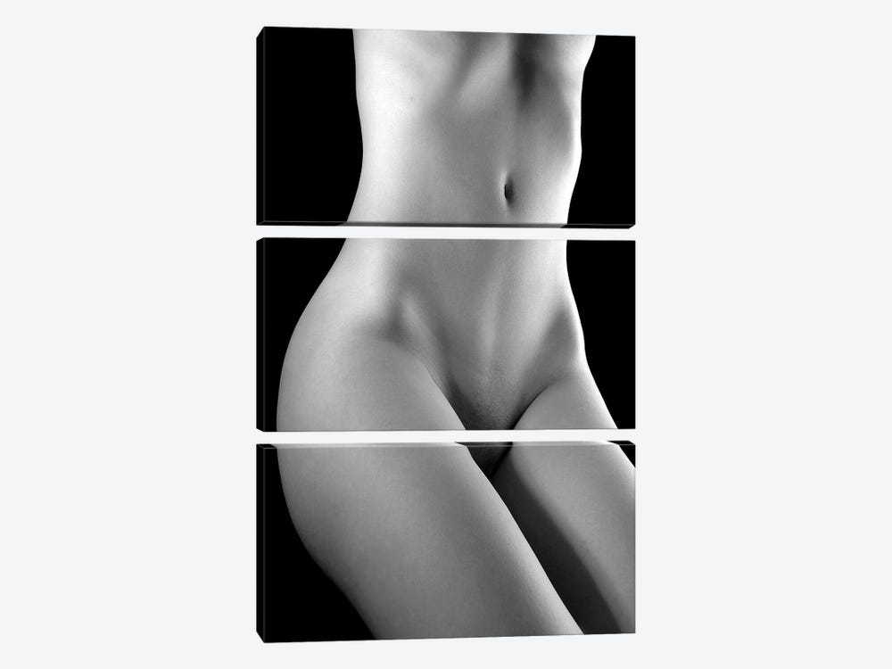 Nude Woman by Unknown Artist 3-piece Canvas Art Print