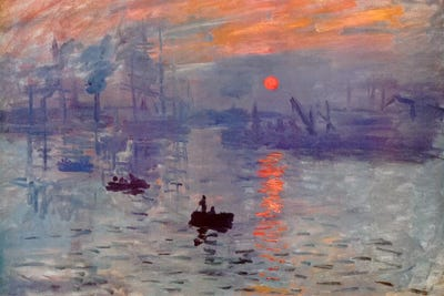Sunrise Impression Canvas Wall Art by Claude Monet | iCanvas