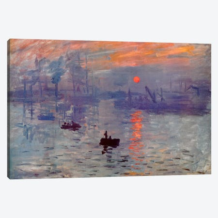 Sunrise Impression Canvas Print #310} by Claude Monet Canvas Artwork