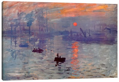 Sunrise Impression by Claude Monet Canvas Artwork