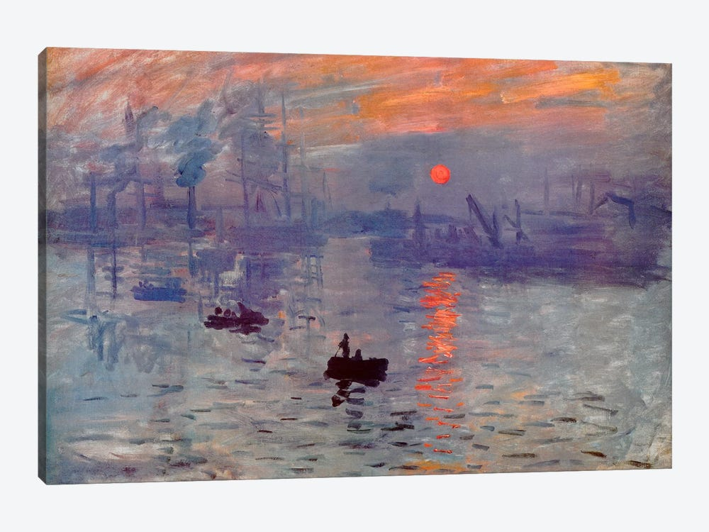 Sunrise Impression by Claude Monet 1-piece Canvas Art