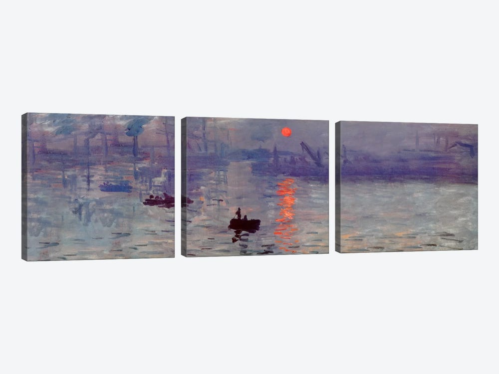 Sunrise Impression by Claude Monet 3-piece Canvas Art