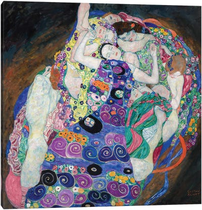 The Virgin, 1913 by Gustav Klimt Canvas Art Print