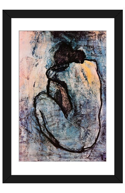 Blue Nude Framed Art Print