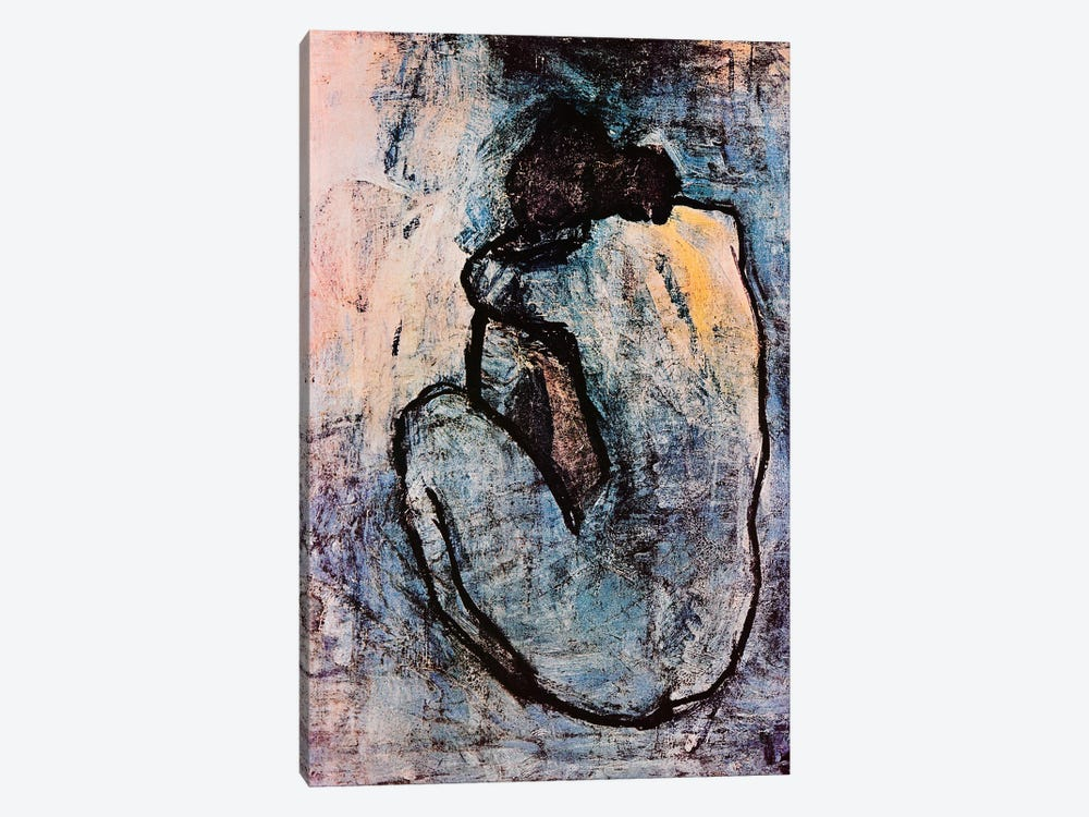 Blue Nude by Pablo Picasso 1-piece Canvas Art Print