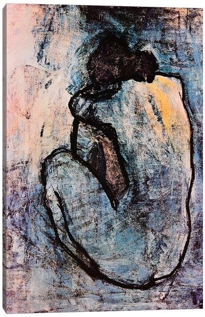 Blue Nude Canvas Art Print