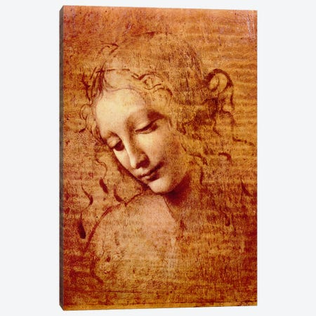 Female Head Canvas Print #317} by Leonardo da Vinci Canvas Print