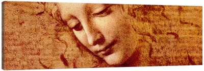 Female Head by Leonardo da Vinci Canvas Artwork