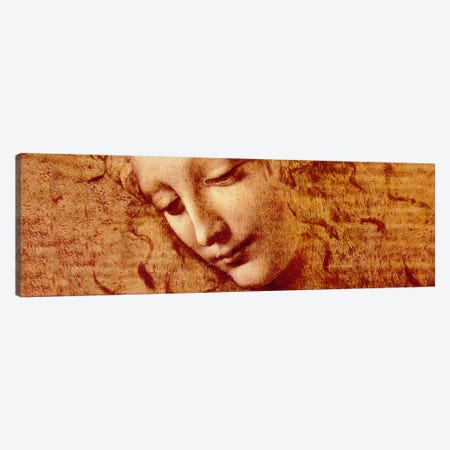 Female Head Canvas Print #317PAN} by Leonardo da Vinci Canvas Artwork